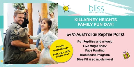 Reptiles, Koala, Face Painting and more at Bliss Killarney Heights! tickets