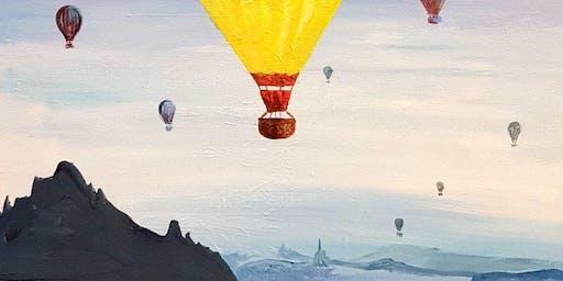 'Hot Air Balloon' Sip & Paint Workshop