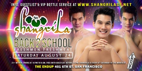 ShangriLa - Saturday August 24 - Back2School Freshmen Freshmeat tickets