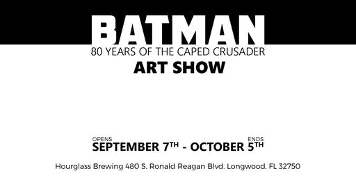 CALL TO ARTISTS: Batman, 80 Years of the Caped Crusader @ Hourglass Brewing