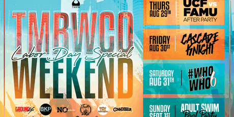 #TMRWCOWeekend: Labor Day Weekend Special tickets
