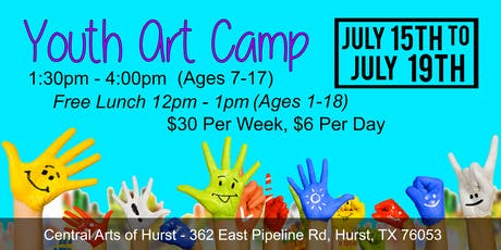 Youth Art Camp - July 15th to July 19th tickets