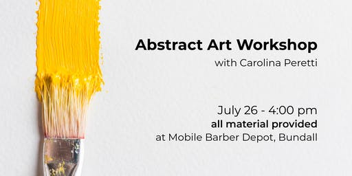 Introduction to Abstract Art + APERITIVO - Acrylic Paint Workshop