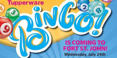Fort St. John Tupperware Bingo tickets