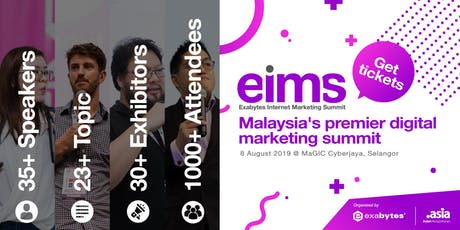 Exabytes Internet Marketing Summit 2019 tickets