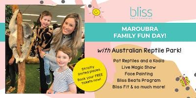 Reptiles, Koala, Face Painting and more at Bliss Maroubra\