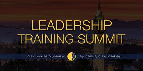 GLO Leadership Training Summit at UC Berkeley Fall 2019 tickets