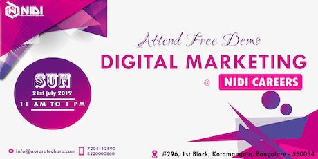 Free Demo on Advanced Digital Marketing tickets