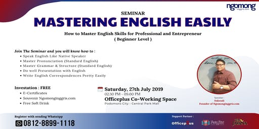 Seminar Mastering English Easily