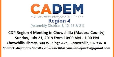 CDP Region 4 Meeting in Chowchilla (Madera County) tickets