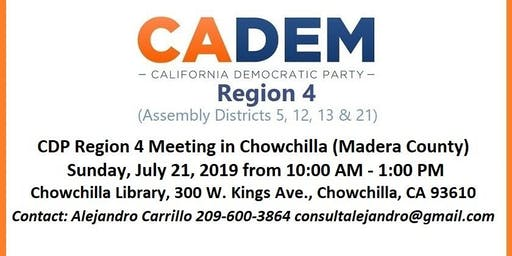 CDP Region 4 Meeting in Chowchilla (Madera County)