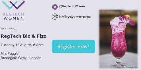 RegTech Biz & Fizz Summer Meet-up tickets