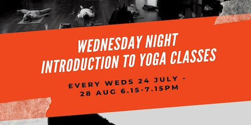 Wednesday Night Introduction to Yoga