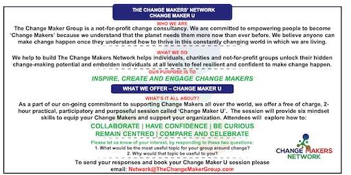 Change Maker U - free 2-hour charity session