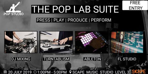 POP LAB Electronic Music and DJ Skills Workshop at Skills Future Festival 2019 (Free)
