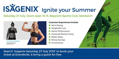 """Ignite your Summer"" - Isagenix July 2019 tickets"