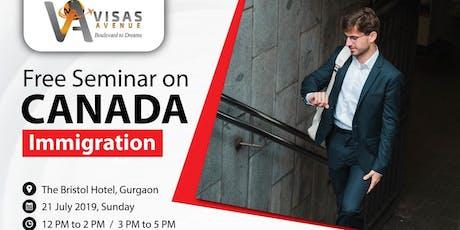 Free Canada Immigration Seminar At Gurgaon On 21st July 2019 tickets