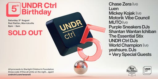UNDR Ctrl 5th Birthday (SOLD OUT)