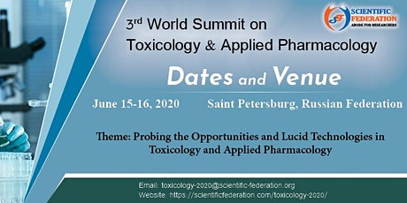 3rd World Summit on Toxicology & Applied Pharmacology tickets