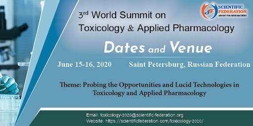 3rd World Summit on Toxicology & Applied Pharmacology