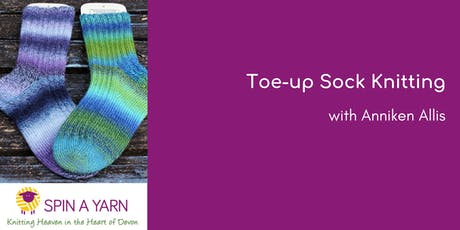 Toe-up Sock Knitting with Anniken Allis  tickets