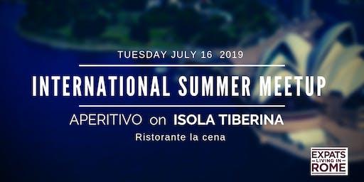 Rome Expats Summer Meetup on Isola Tiberina