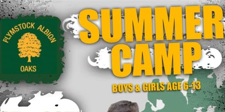 Plymstock Albion Oaks Grass Roots Rugby Camp - 29th August tickets