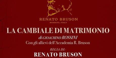 LA CAMBIALE DI MATRIMONIO di Gioachino Rossini biglietti
