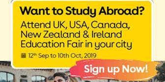 Want to Study Abroad? Attend UK, USA, Canada, New Zealand & Ireland Education Fair in  Vadodara