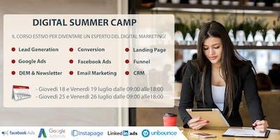 Digital Summer Camp - 18/19 luglio e 25/26 luglio 2019 dalle 9 alle 18