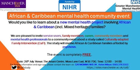 African & Caribbean Mental Health Community Event - CaFI study tickets