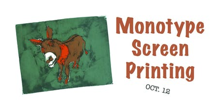 Monotype Screenprinting tickets