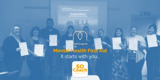 Mental Health First Aid - Chester - Adult Two Day
