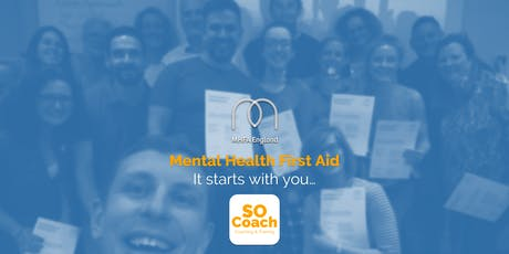 Mental Health First Aid - Altrincham - Adult Two Day tickets