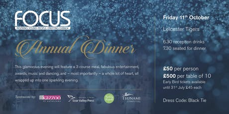 FOCUS Charity Annual Dinner tickets