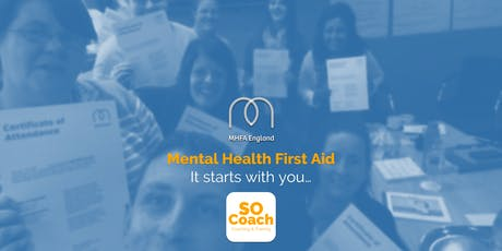 Mental Health First Aid - Crewe - Adult Two Day tickets