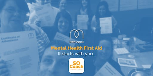 Mental Health First Aid - Crewe - Adult Two Day