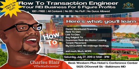 How To Transaction Engineer Your Real Estate Investing Business tickets