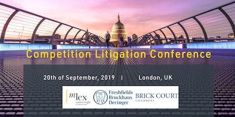 Competition Litigation Conference 2019 tickets