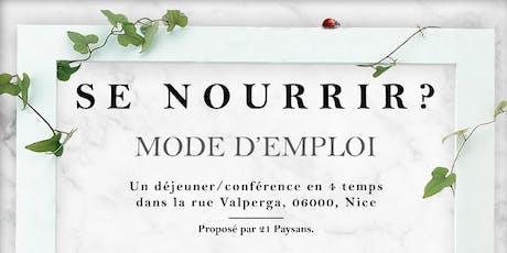 SE NOURRIR ? MODE D'EMPLOI. tickets