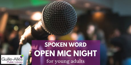 Spoken Word Open Mic Night for young adults tickets