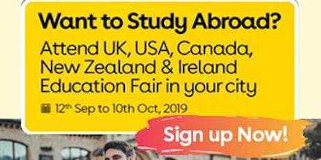 Want to Study Abroad? Attend UK, USA, Canada, New Zealand & Ireland Education Fair in Chennai tickets