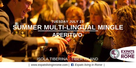 Rome Expats Summer Multilingual Mingle Aperitivo - Isola Tiberina biglietti