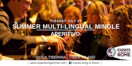 Rome Expats Summer Multilingual Mingle Aperitivo - Isola Tiberina