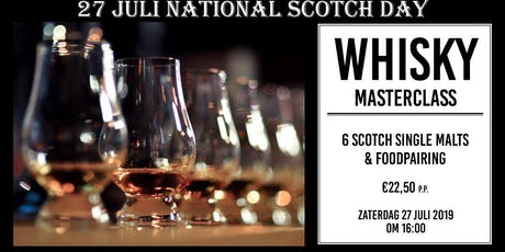 Whisky masterclass at Maas Bar & Kitchen - 27 juli National Scotch Day tickets