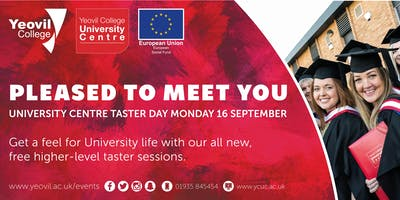 Pleased to Meet You: Higher Education Taster Day
