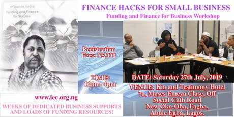 FINANCE HACKS FOR SMALL BUSINESS tickets