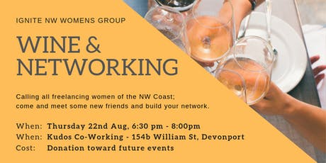 Wine & Networking I Kudos Co-Working tickets