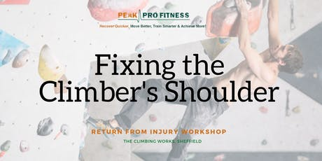 EXPERT WORKSHOP - Fixing the Climber's Shoulder tickets