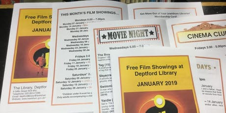 Saturday Family Film in the Library @Deptford Lounge tickets